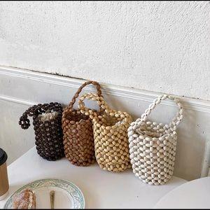 Bamboo bead mini handbag 🎋